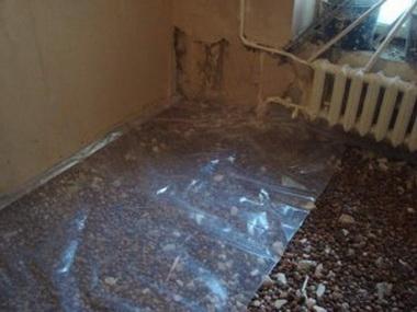 Гидроизоляция бетонного основания.