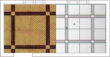 Прессованная ПВХ-плитка.